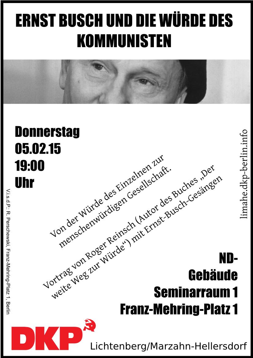 Ernst Busch Veranstaltung
